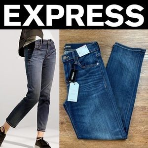 NEW EXPRESS MID RISE STRAIGHT STRETCH JEANS